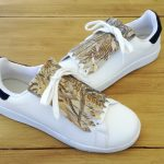 flecos zapatillas Strelitzia dorada par