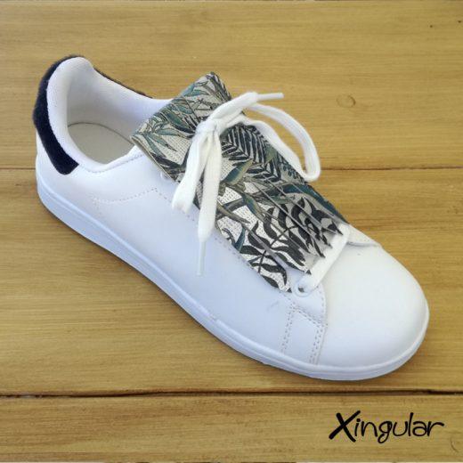flecos zapatillas Strelitzia plateada