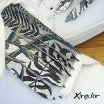 flecos zapatillas Strelitzia plateada detalle
