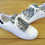 flecos zapatillas Strelitzia plateada par