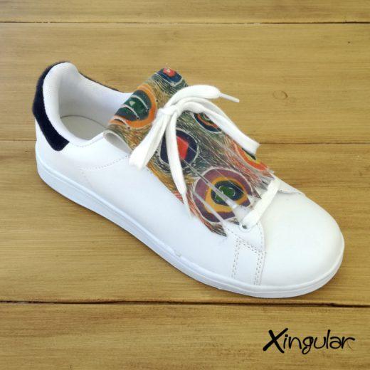 flecos zapatillas circulos abstractos