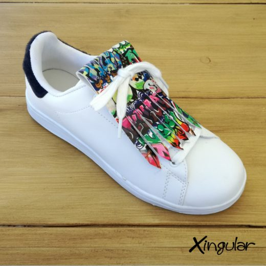 flecos zapatillas graffiti