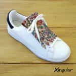 flecos zapatillas vidriera floral