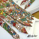flecos zapatillas vidriera floral detalle