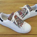 flecos zapatillas vidriera floral par