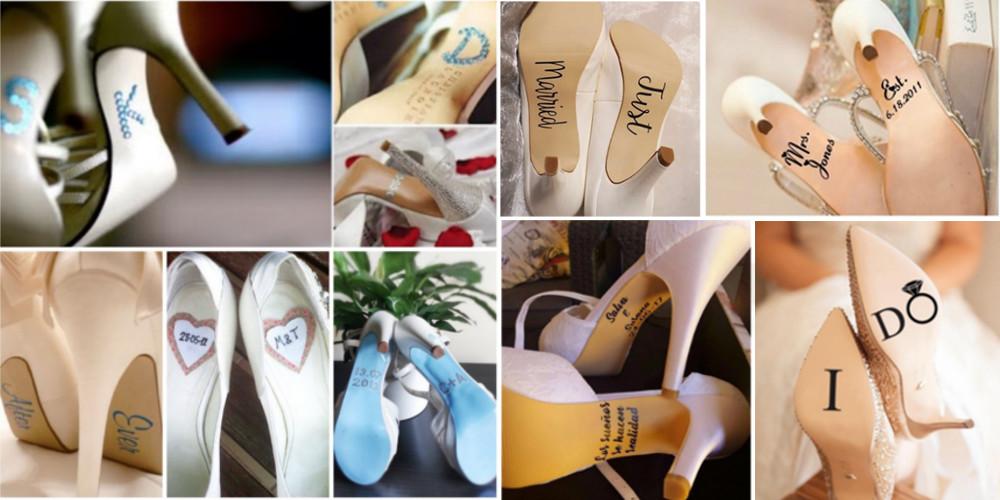 Adornos para zapatillas de novia - pegatinas suelas