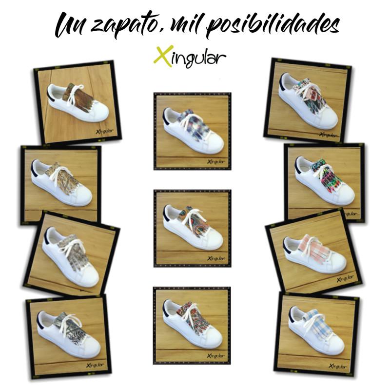 ideas adornar zapatos-Flecos