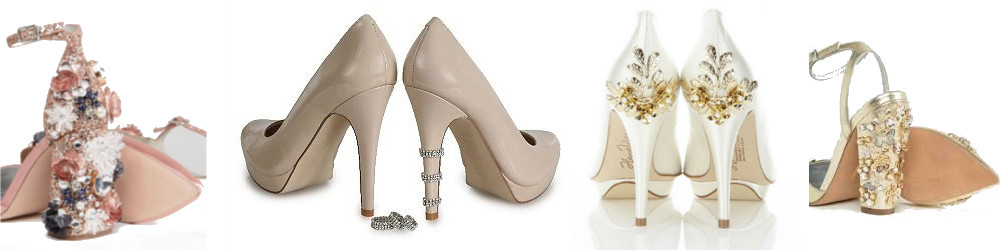 Adornos para zapatillas de novia - anillos y pedreria