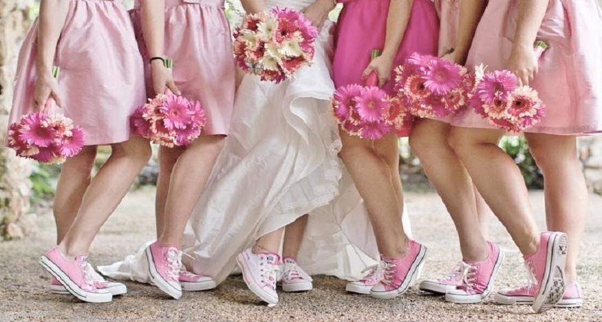 Adornos para zapatillas de novia - converse novia y amigas