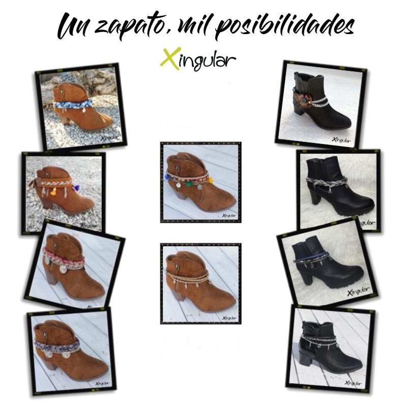 ideas adornar zapatos-Pulseras botas