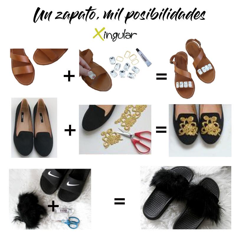 ideas adornar zapatos-Apliques