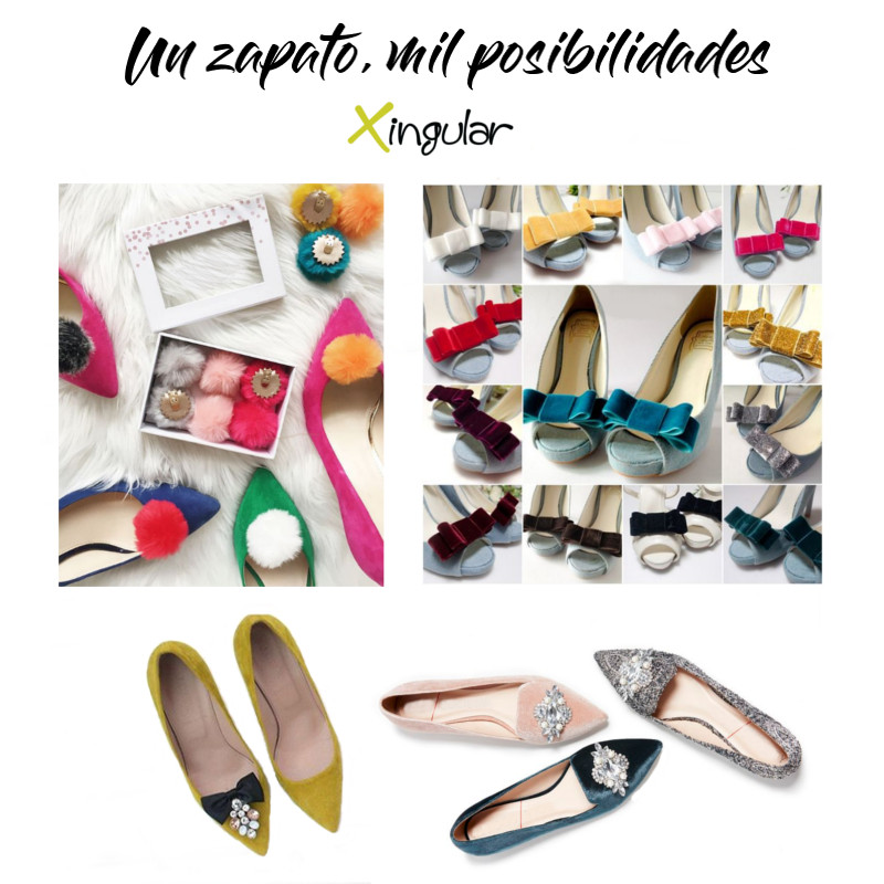 ideas adornar zapatos-Clips