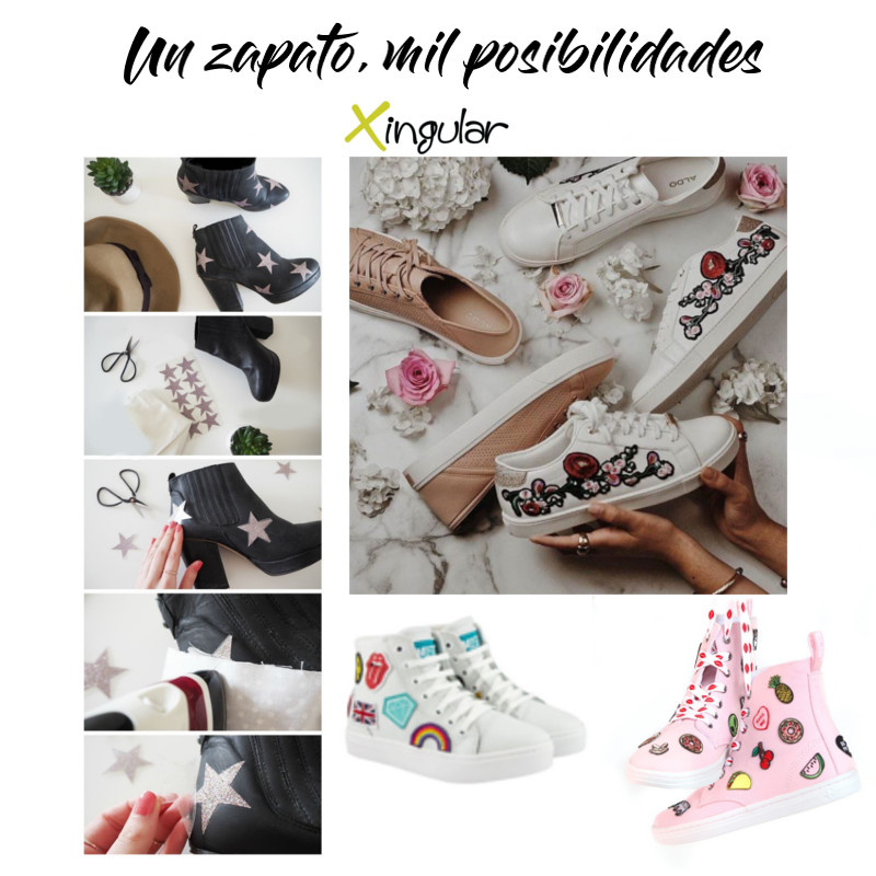 ideas adornar zapatos-Parches