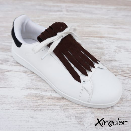 flecos zapatillas ante chocolate