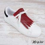 flecos zapatillas carmesí