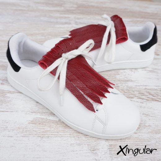 flecos zapatillas carmesi par