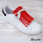 flecos zapatillas charol bermellon