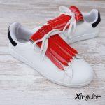 flecos zapatillas charol bermellon par 2