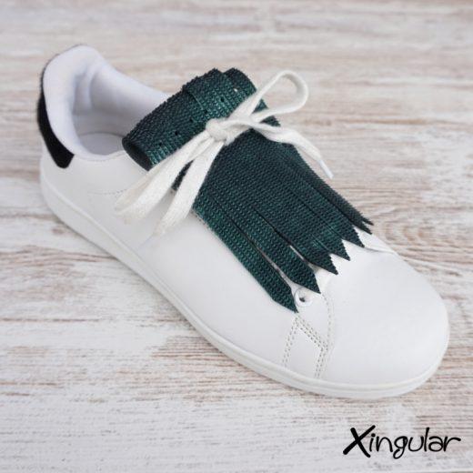 flecos zapatillas escamas de pez verde