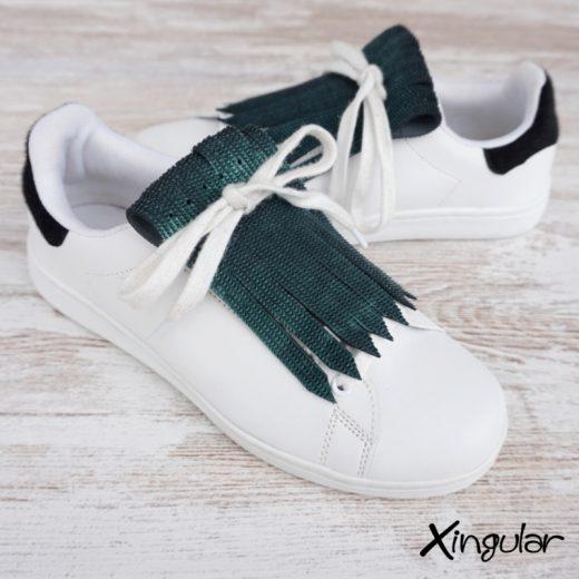 flecos zapatillas escamas de pez verde par 2