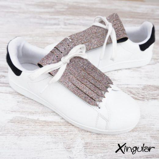 flecos zapatillas glitter par