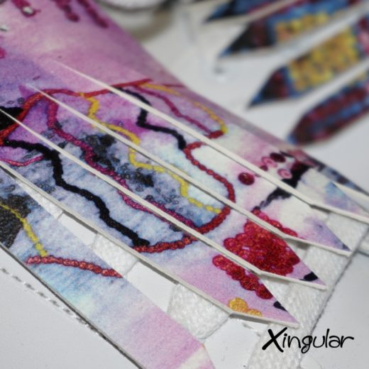 flecos zapatillas street art detalle