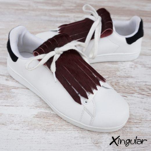 flecos zapatillas vino tinto par