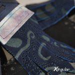 lengüetas zapatos azuladas detalle