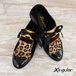 lengüetas zapatos leopardo par