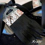 lengüetas zapatos negras par detalle
