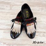 lengüetas zapatos serpiente par