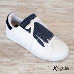 flecos zapatillas puntos metalizados