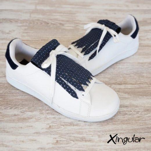 flecos zapatillas puntos metalizados par
