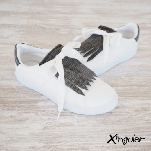 flecos zapatillas tornasolado par