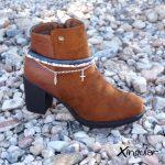 pulsera botas arty azuladas
