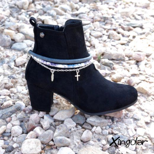pulsera botas arty azuladas BN