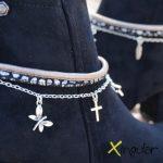 pulsera botas gaudi bronce detalle BN