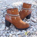 pulsera botas gaudi bronce par BM