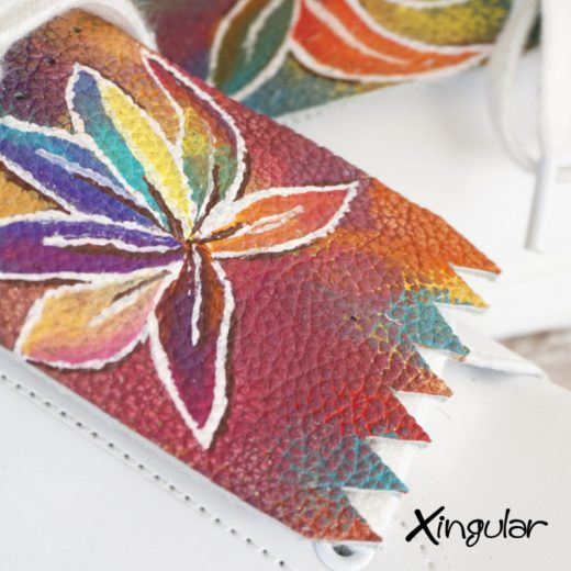 lengüetas flor abstractas detalle