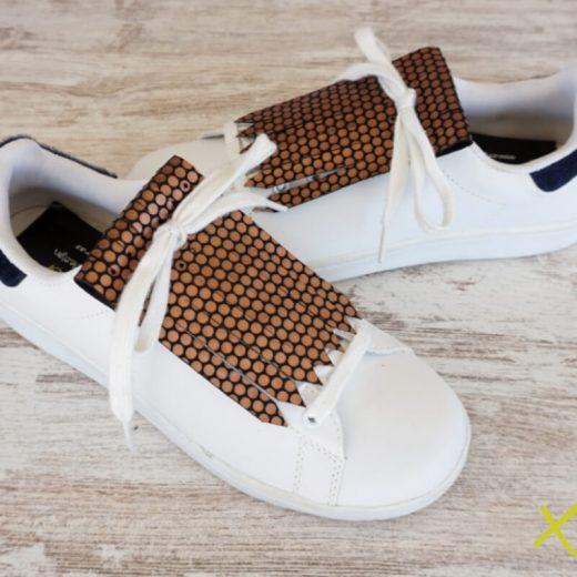 flecos zapatillas circulos bronce par