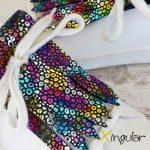 flecos zapatillas animal print fluor detalle 2