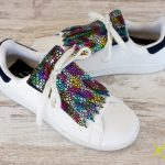 flecos zapatillas animal print fluor par