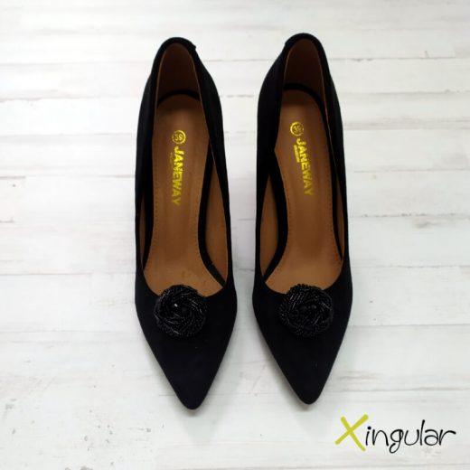 Broche para zapatos Negro